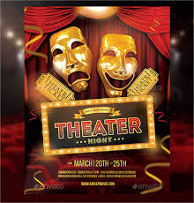 theater flyer template 9 free psd vector ai eps format