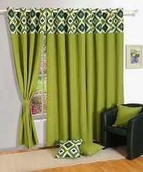 Premium Curtains Living Room Floral Panel Solid Drape Premium Cotton Window Door
