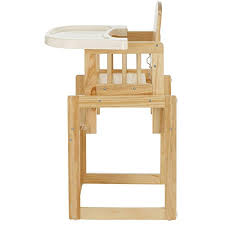 high chair converts to table and chair obaby cube wooden highchair natural amazon co uk baby