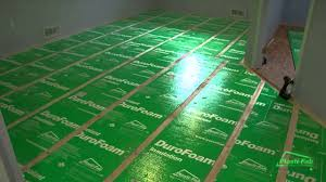 Laminate Flooring Over Concrete Basement How To Insulate A Basement Floor With Plasti Fab U0027s Durofoam Youtube