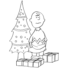printable christmas charlie brown coloring page for kids