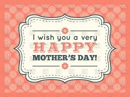 retro pink happy mothers day card vector image 67717 u2013 rfclipart