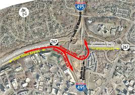 Washington Dulles Airport Map by New Ramp From Dulles Airport Access Highway To I 495 Opens