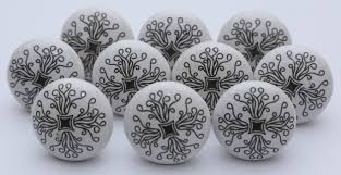 black and white ceramic door knobs ceramic knobs kitchen cabinet