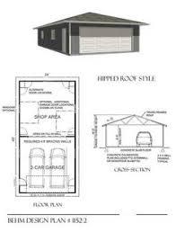 Garage Floor Plans With Loft Two Car Garage With Loft Plan 856 1 By Behm Design Garden Sheds