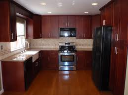 Dark Kitchen Cabinets With Backsplash Walnut Wood Cherry Amesbury Door Dark Kitchen Cabinets Backsplash