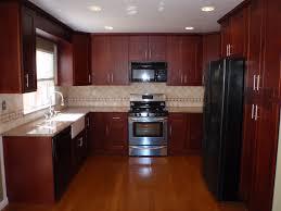Dark Kitchen Cabinets With Backsplash Walnut Wood Cherry Amesbury Door Dark Kitchen Cabinets Backsplash