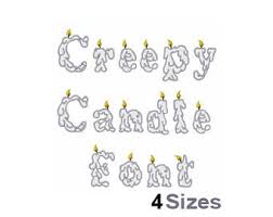 spooky letters etsy