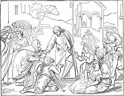 ten sick men coloring page coloring jesus heals the sick