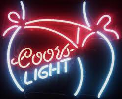 coors light bar sign 2018 new coors light bar pub tavern real glass neon sign