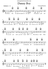 Dead Flowers Tabs - danny boy irish traditional song includes lead sheet lyrics and