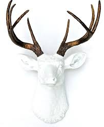 Faux Deer Antler Decor Best Head Art Crafts White And