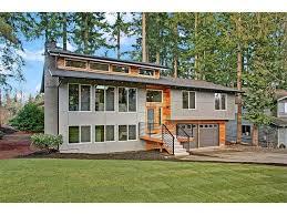 Split Level Front Porch Designs Flipping Houses Boring Split Level Transformed Into Modern Nw
