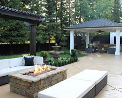 home design outstanding backyard patio designs with fire pit