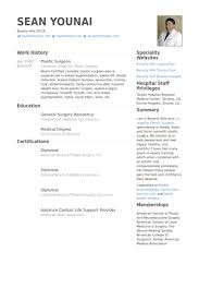 American Resume Samples by Plastic Surgeon Resume Samples Visualcv Resume Samples Database