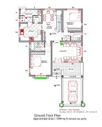 Contemporary House Floor Plans Contemporary House Elevation And Plan At 2000 Sqft House Floor