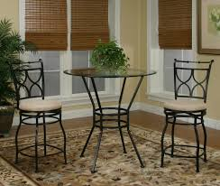 glass pub table and chairs cramco inc cramco trading company starling 3 piece glass top