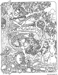 fantasy child elves coloring pages printable