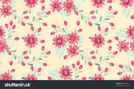 seamless folk pattern small wild flowers stock illustration