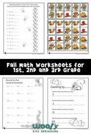 fall math worksheets for 1st 2nd u0026 3rd grade woo jr kids
