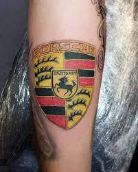 stuttgart porsche logo porsche logo tattoo done with bishoprotary tattoolife c u2026 flickr