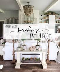 Spring Decor 2017 Spring Decor Farmhouse Family Room Cotton Stem