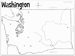 washington state map coloring page sketch coloring page coloring