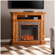 400 Sq Ft by Southern Enterprises Belleview Faux Stone Media Center Electric