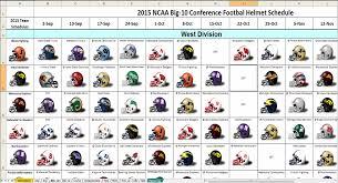 Schedule Spreadsheet Excel Spreadsheets Help Ncaa 2015 College Football Helmet Schedule
