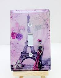 Eiffel Tower Room Ideas Cute Light Switch Cover Purple Paris Eiffel Tower Paris Room Decor
