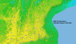 forecast lower humidity and wall to wall sunshine on tap for the