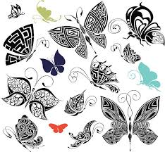 royalty free butterfly side view clip vector images