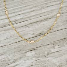 necklace with diamond images 0 20ct diamond by the yard necklace in yellow jpg