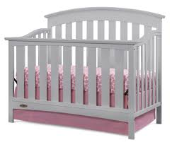 Graco Lauren Classic 4 In 1 Convertible Crib graco cribs lauren 4 in 1 convertible crib in pebble gray free