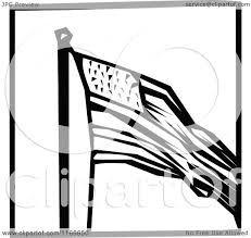Black And White American Flag Clipart Of A Retro Vintage Black And White American Flag Icon