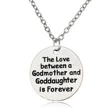 godmother necklace godmother goddaughter forever pendent necklace family