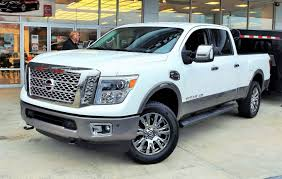 white nissan truck 2016 nissan titan xd platinum reserve cummins diesel v8 crew cab