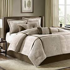 Comforter Sets Images Amazon Com Madison Park Dallas 7 Piece Comforter Set Khaki