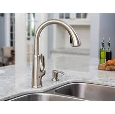 stainless steel pasadena touch free pull down kitchen faucet with