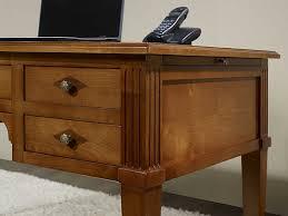 bureau ministre pas cher bureau ministre 5 tiroirs en merisier massif de style directoire