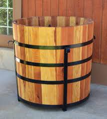 Half Barrel Planter by The Half Barrel Planters Built To Last Decades Forever Redwood