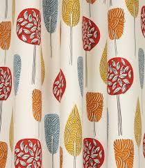 scandi trees fabric scarlet just fabrics