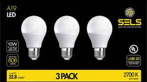 sels led a19 led light bulb 10 watts youtube
