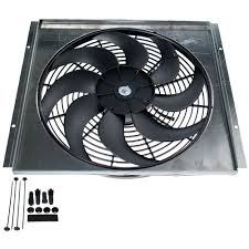 electric radiator fans and shrouds mustang electric fan 16 2500cfm with aluminum fan shroud 1965 1966