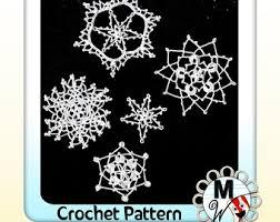 crochet patterns snowflake ornaments pdf pattern instant