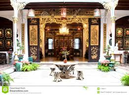 Chinese Home Patio Of A Chinese Heritage Home Royalty Free Stock Photography