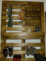 pallet shoe and coat rack pallet furniture diy