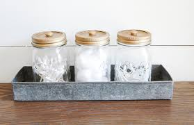 Bathroom Storage Jars Decorative Jar Bathroom Storage House Of Four