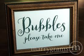 Wedding Bubbles Wedding Bubbles Send Off Sign Thick Style