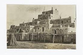 Pueblo Adobe Houses Taos Pueblo New Mexico G E E Lindquist Native American Photographs